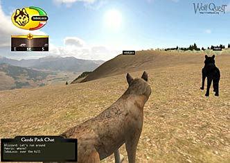 Screenshot of Wolves standing on a ridge
