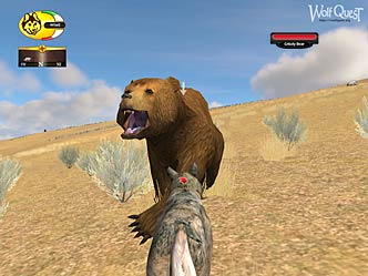 Screenshot of a Grizzly attacking