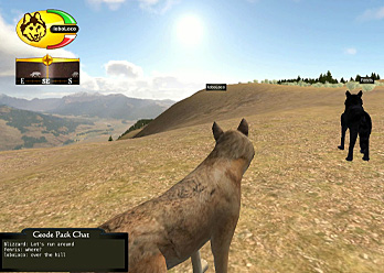Image: screenshot of the WolfQuest interactive